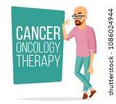 chemotherapy patient man vector.... | Shutterstock .eps vector #1086024944