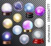 magic ball vector magical... | Shutterstock .eps vector #1086026777