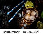 cuba libre  long island or iced ... | Shutterstock . vector #1086030821