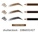 eyebrow pencil color swatch... | Shutterstock .eps vector #1086031427