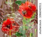 art vintage blurred colorful...   Shutterstock . vector #1086040511