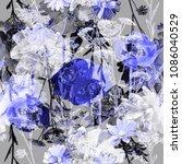 art vintage blurred monochrome...   Shutterstock . vector #1086040529