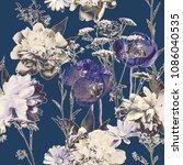art vintage blurred monochrome...   Shutterstock . vector #1086040535