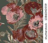 art vintage blurred monochrome...   Shutterstock . vector #1086040559