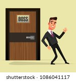 indecisive office worker man... | Shutterstock .eps vector #1086041117