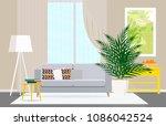 modern interior design of a... | Shutterstock .eps vector #1086042524