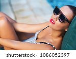 summer lifestyle fashion... | Shutterstock . vector #1086052397