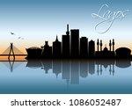 lagos skyline   nigeria  ...   Shutterstock .eps vector #1086052487
