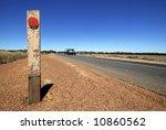 Road in desert of Australia - stock photo
