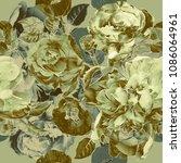 art vintage blurred monochrome  ...   Shutterstock . vector #1086064961
