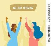 politics women protest action.... | Shutterstock .eps vector #1086066989