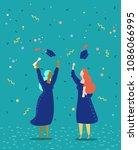 vector illustration graduation... | Shutterstock .eps vector #1086066995