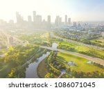 aerial view fourth ward... | Shutterstock . vector #1086071045