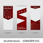 roll up banner template and... | Shutterstock .eps vector #1086089141