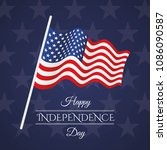 independence day with us flag | Shutterstock .eps vector #1086090587