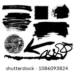 hand drawn scribble symbols... | Shutterstock .eps vector #1086093824
