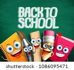 back to school vector banner... | Shutterstock .eps vector #1086095471