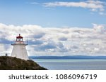 Small photo of Cape Enrage lighthouse, one of the oldest lighthouses on the Fundy coastline of New Brunswick, Canada.