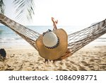 summer vacations concept  happy ... | Shutterstock . vector #1086098771