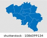belgium map   high detailed... | Shutterstock .eps vector #1086099134