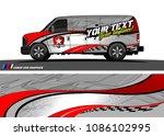 van wraps design vector. simple ...   Shutterstock .eps vector #1086102995