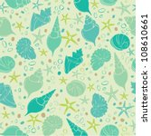 seamless sea pattern with... | Shutterstock .eps vector #108610661