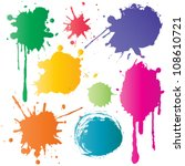 color ink | Shutterstock .eps vector #108610721