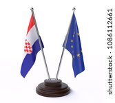 croatia and european union  two ... | Shutterstock . vector #1086112661