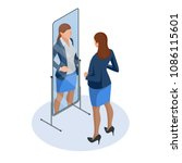 isometric business woman... | Shutterstock .eps vector #1086115601