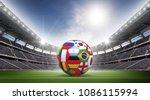soccer ball stadium 3d rendering | Shutterstock . vector #1086115994