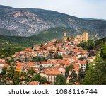 village of vernet les bains ... | Shutterstock . vector #1086116744