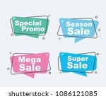 collection of sale discount... | Shutterstock .eps vector #1086121085