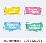 collection of sale discount... | Shutterstock .eps vector #1086121091