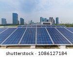 solar and modern city skyline   | Shutterstock . vector #1086127184