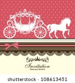 vintage luxury carriage design | Shutterstock .eps vector #108613451