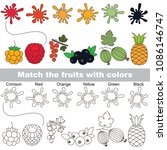 berry rainbow colors set to... | Shutterstock .eps vector #1086146747