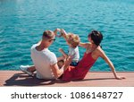 love and trust as family values.... | Shutterstock . vector #1086148727