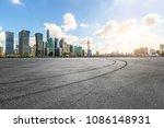 urban asphalt square road and...   Shutterstock . vector #1086148931