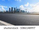 urban asphalt road and modern... | Shutterstock . vector #1086148997