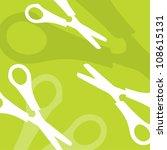 Scissors Vector Background
