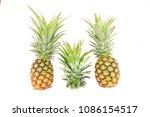 pineapple fruit isolate on... | Shutterstock . vector #1086154517