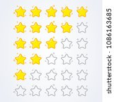 vector illustration 5 star... | Shutterstock .eps vector #1086163685