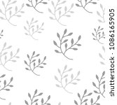 abstract floral seamless... | Shutterstock .eps vector #1086165905