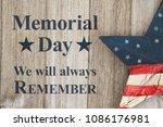 memorial day we will always... | Shutterstock . vector #1086176981