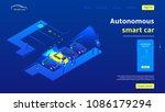 concept banner with autonomous... | Shutterstock .eps vector #1086179294