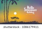 vector travel banner with...   Shutterstock .eps vector #1086179411