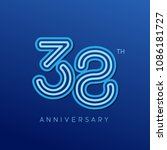 38th anniversary celebration... | Shutterstock .eps vector #1086181727