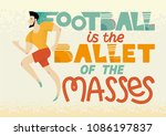 football lettering. hand drawn... | Shutterstock .eps vector #1086197837