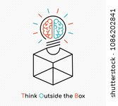 think outside the box  human... | Shutterstock .eps vector #1086202841
