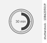 a clock icon indicating a time... | Shutterstock .eps vector #1086205019